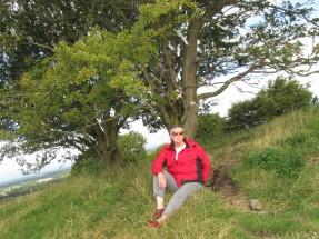 Sherrill at the Fairy Tree, Hill of Tara