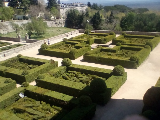 One of the formal gardens.